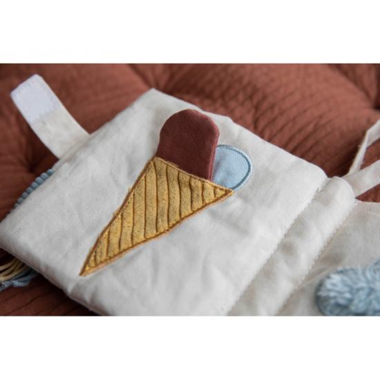 Knížka z BIO bavlny PURE & NATURE - Little Dutch