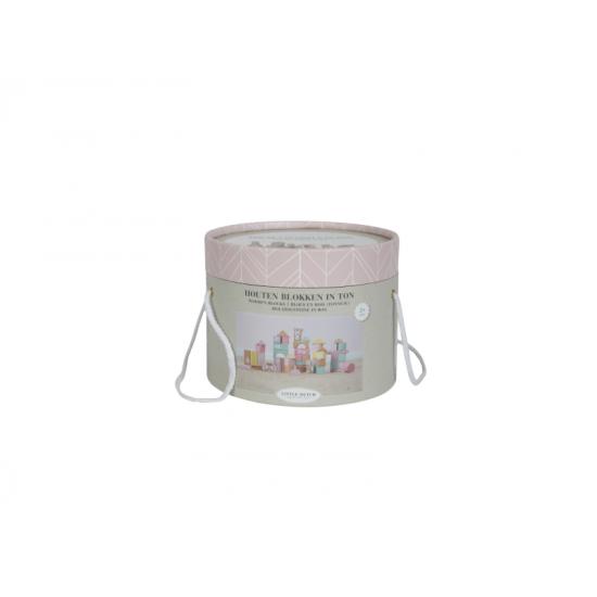 Dřevěné kostky v tubě pink - Little Dutch
