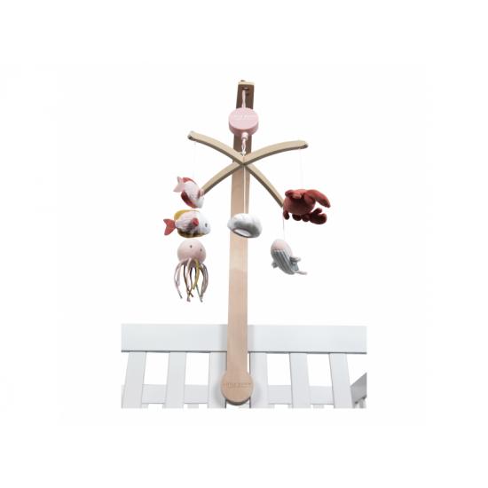 Dřevěný kolotoč OCEAN pink - Little Dutch