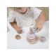 Dřevěné nasazovací kroužky pink - Little Dutch
