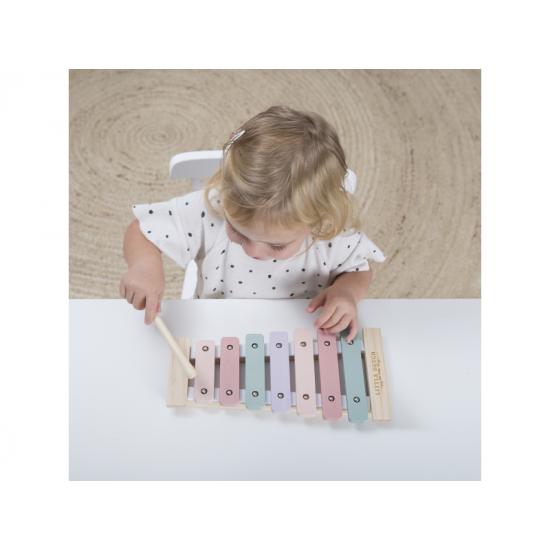 Dřevěný xylofon pink - Little Dutch