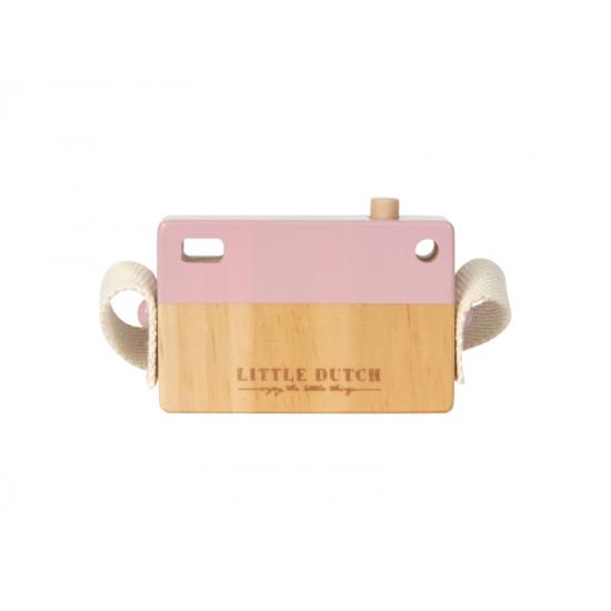 Dřevěný fotoaparát růžový - Little Dutch